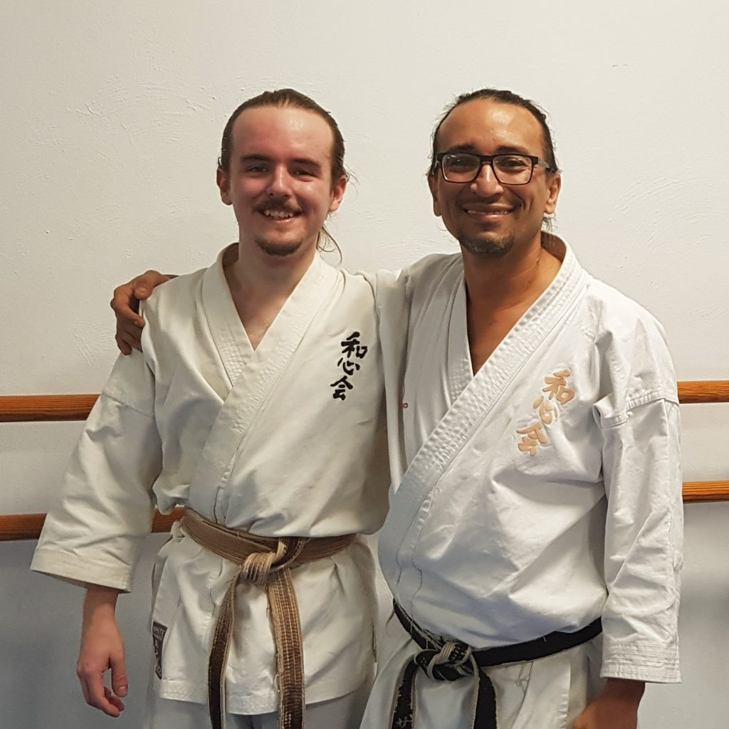 Sensei Elliot Morton with Sensei Geovanny Sanchez Salazar