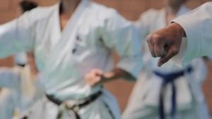 El verano camping y Karate en el campo